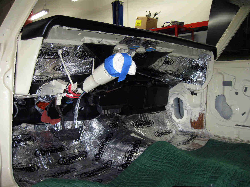 Dynamat on car interior