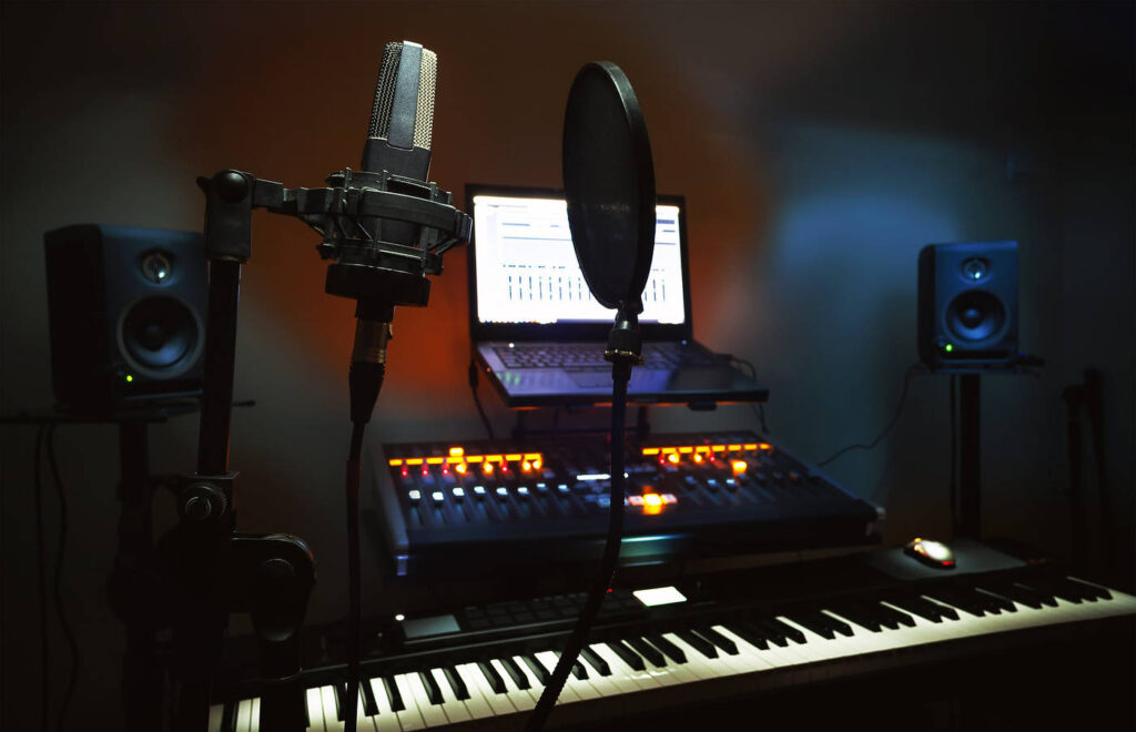 Home recording room