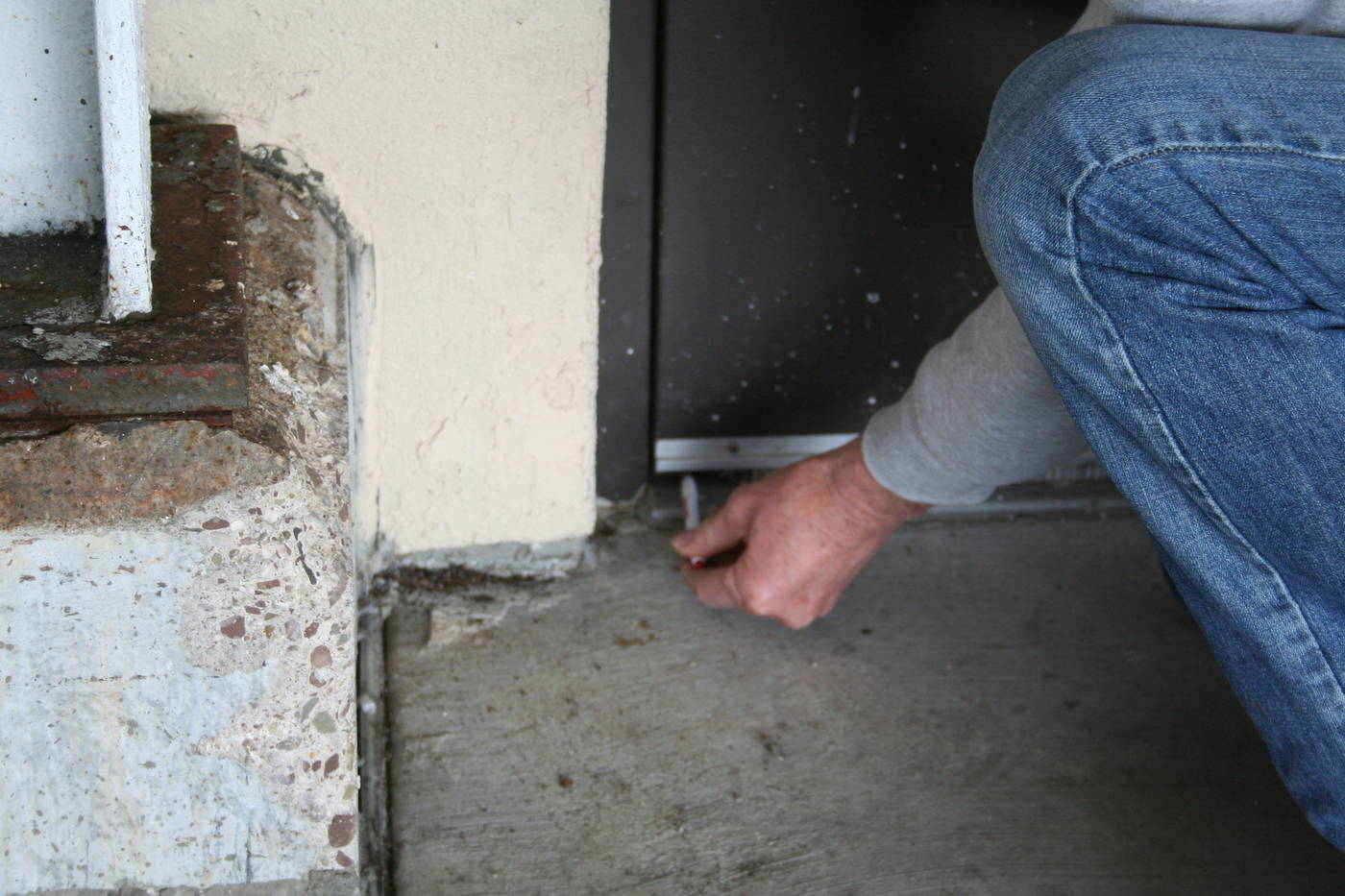 Checking door sweep